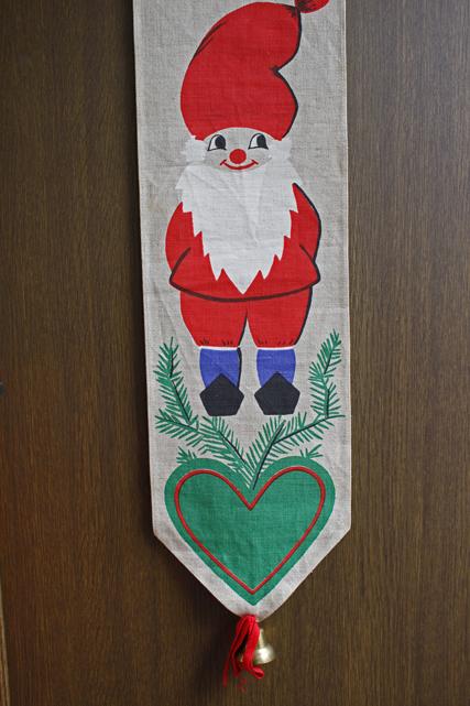 【クリスマス】北欧ヴィンテージ/壁掛け/森の中のニッセ