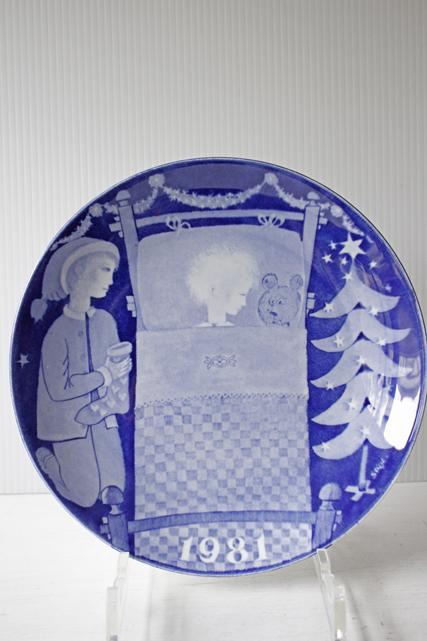 【クリスマス】北欧ヴィンテージ/Gustavsberg(グスタフスベリ)/スティグ・リンドベリ/イヤープレート/1981年
