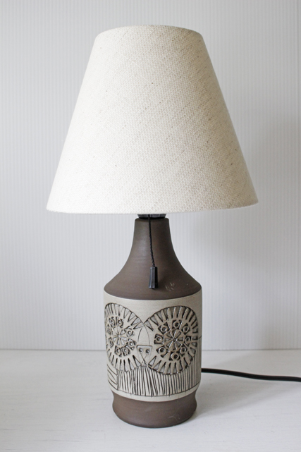 北欧照明/スウェーデン製/Alingsas Keramik社/ヴィンテージテーブルランプ/グレー/SOLD OUT