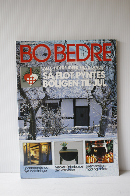 """北欧ヴィンテージ/""""Bo Bedre""""のクリスマスのアイデア本/1985年"""