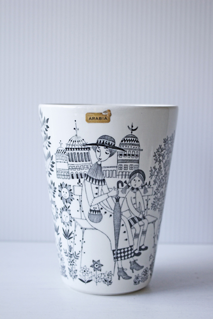 北欧ヴィンテージ/ARABIA/エミリア/花瓶