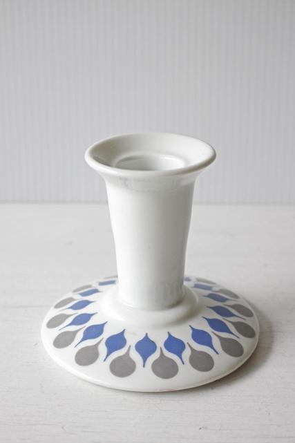 北欧ヴィンテージ/Lyngby Porcelain(リュンビュー・ポーセリン)/Danlid/キャンドルホルダー