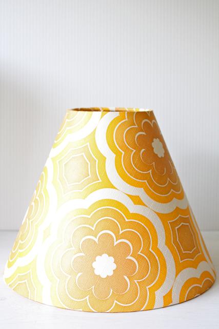北欧照明/ランプシェード/ヴィンテージの壁紙/フラワーモチーフ