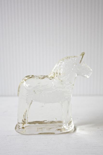 北欧ヴィンテージ/ガラスのオブジェ/ダーラナホース