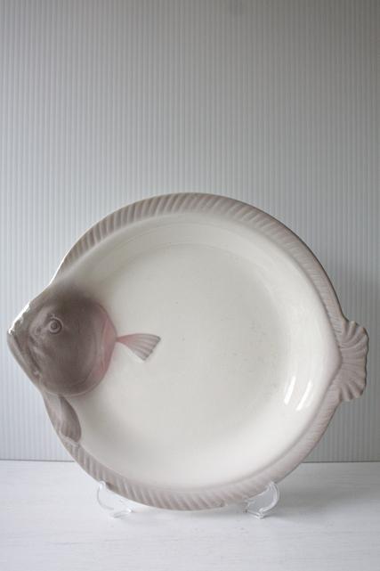 ドイツ製/ノスタルジックなお魚プレート/ヒラメ/No.2