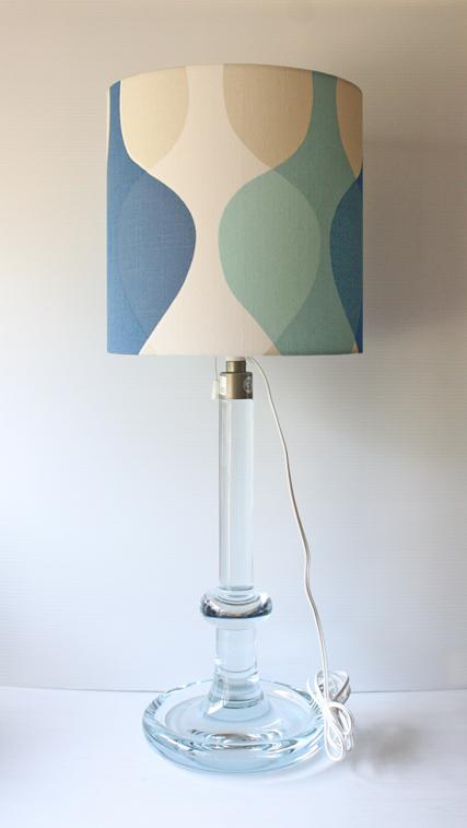 大サイズ!北欧照明/Holmegaard(ホルムガード)/ヴィンテージテーブルランプ/クリアカラー