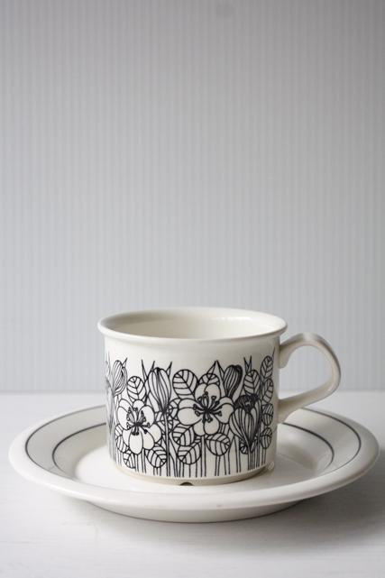 北欧ヴィンテージ/ARABIA/Krokus(クロッカス)/コーヒーカップ&ソーサー