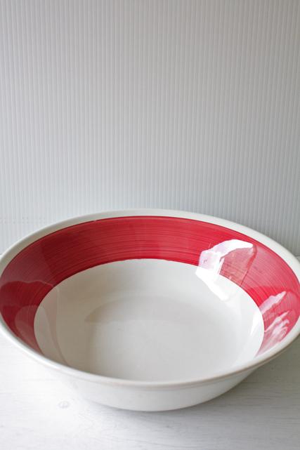 北欧ヴィンテージ/Gustavsberg/Color/ボウル(大)/チェリーレッド