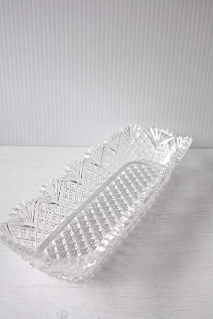 北欧ヴィンテージ/ガラスの長方形ボウル/クリアカラー/SOLD OUT