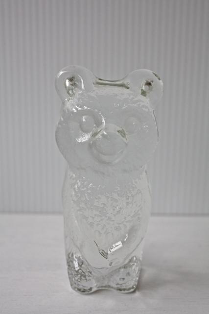 北欧ヴィンテージ/ガラスのオブジェ/クマさん/SOLD oUT