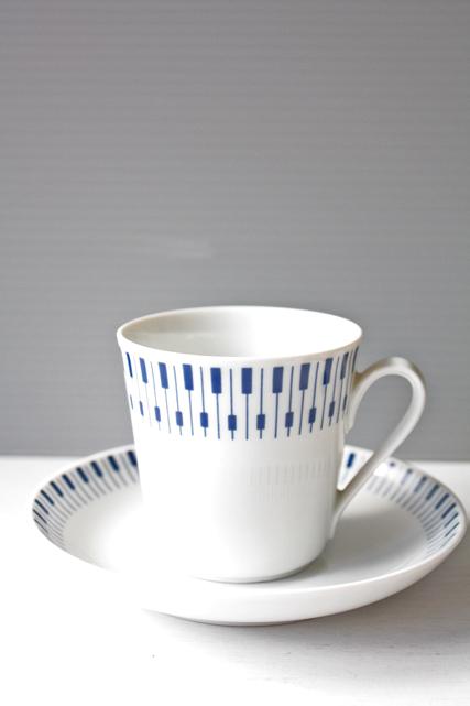 北欧ヴィンテージ/Lyngby Porcelain(リュンビュー・ポーセリン)/タンジェント/カップ&ソーサー/SOLD OUT