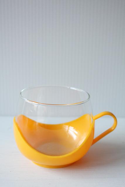 イギリス製/ヴィンテージガラスカップ/イエロー/その1/SOLD OUT