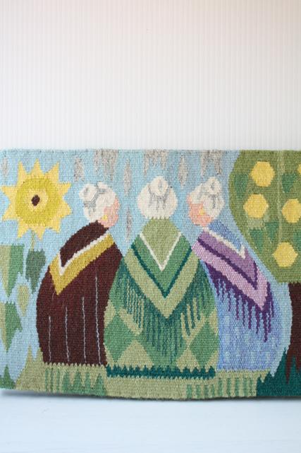 北欧織物/フレミッシュ織/つづれ織/3人のオシャレおばあちゃん