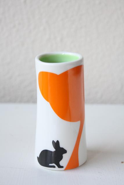 北欧デザイン/Anna Carin Dahl /花瓶(小)/野ウサギ