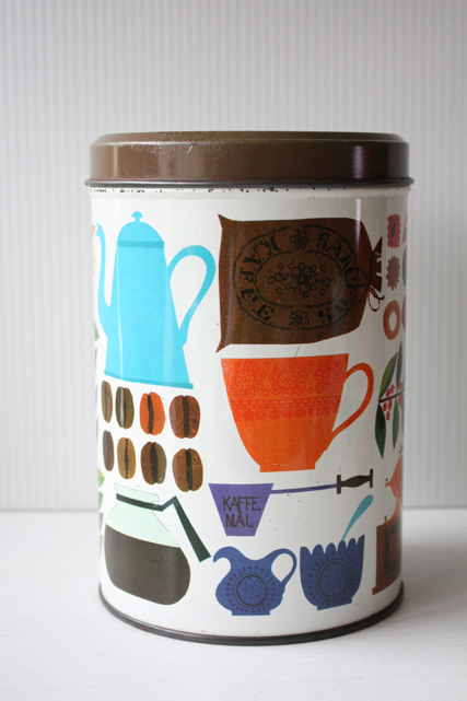 北欧ヴィンテージ缶/レトロキッチン雑貨