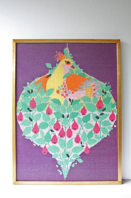 北欧刺繍/クロスステッチ/フレーム/Bjorn Wiinbladデザインの鳥モチーフ/SOLD OUT