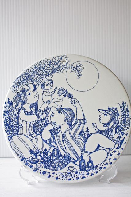 北欧ヴィンテージ/Bjorn Wiinblad(ヴョルン・ウィンブラッド)/飾り皿/昼