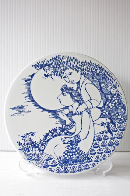 北欧ヴィンテージ/Bjorn Wiinblad(ヴョルン・ウィンブラッド)/飾り皿/夜