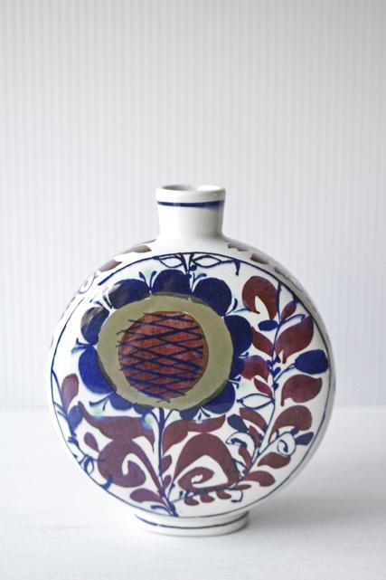 北欧ヴィンテージ/Royal Copenhagen/テネラ/花瓶/ひまわり