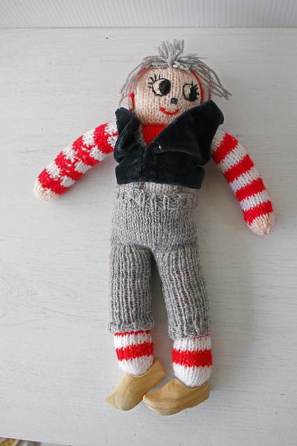 【クリスマス】北欧ヴィンテージ/手編み/ニッセのカップル/男の子