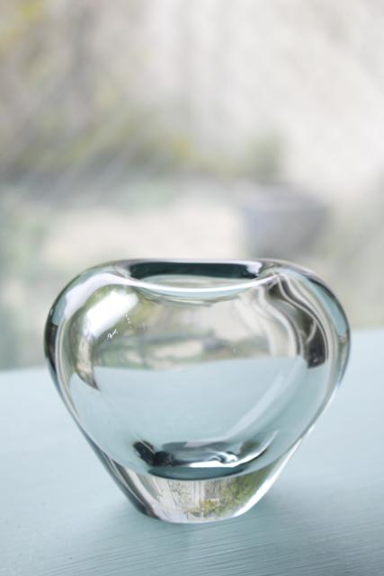 北欧ヴィンテージ/Holmegaard(ホルムゴー)/花瓶/クリアグレー/SOLD OUT