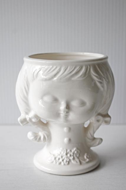 北欧ヴィンテージ/スウェーデン/オブジェ&花瓶/三つ編みの女の子/SOLD OUT