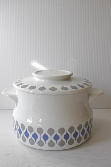北欧ヴィンテージ/Lyngby Porcelain(リュンビュー・ポーセリン)/キャセロール