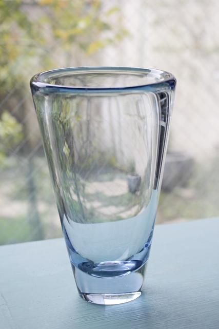 北欧ヴィンテージ/Holmegaard(ホルムゴー)/花瓶/ライトブルー/SOLD OUT