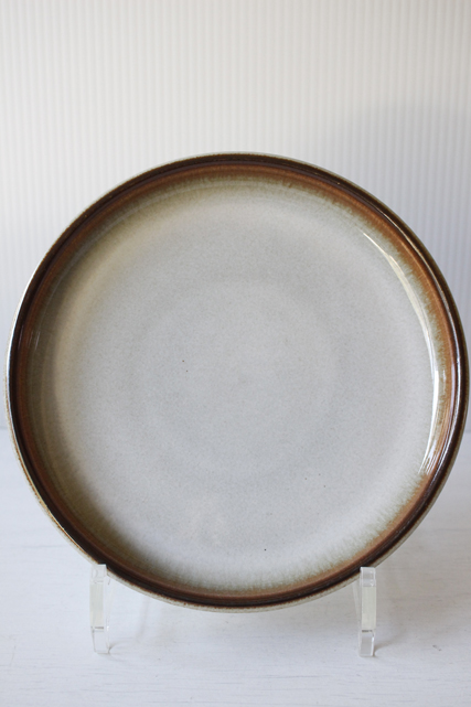 北欧ヴィンテージ/Soholm(スーホルム)/ケーキプレート/ブラウン×ミルクホワイト/No.2