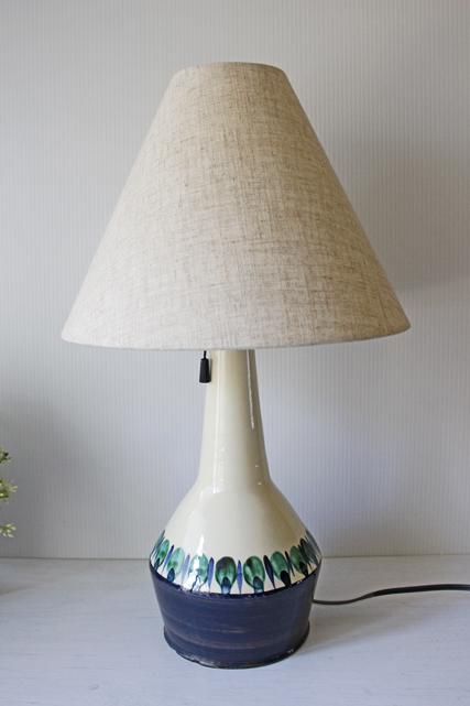 北欧照明/デンマーク製/ヴィンテージテーブルランプ/ホワイト×ブルーグリーン/SOLD OUT