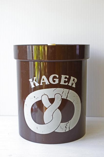 大サイズ!北欧ヴィンテージ/Erik Kold/プラスティックキャニスター/ブラウン/KAGER