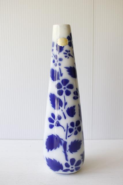 北欧ヴィンテージ/Upsala Ekeby/gefle/narciss/花瓶/ステンシルの植物