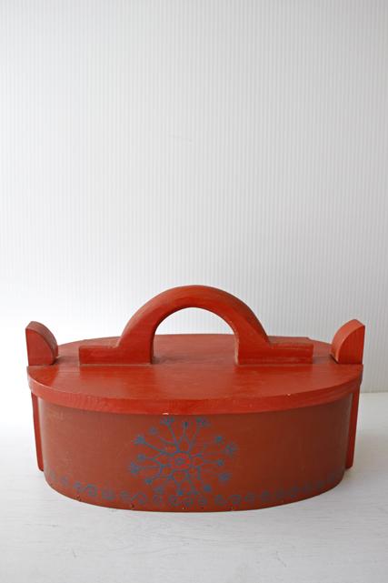 デンマーク製/ヴィンテージのお裁縫箱/ハンドペイント