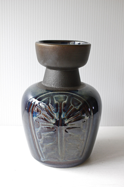 北欧ヴィンテージ/Soholm(スーホルム)/花瓶/ブラウン×ブルー/SOLD OUT