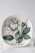 北欧ヴィンテージ/ARABIA/Botanica/ウォールプレート/白バラ