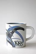 北欧ヴィンテージ/Royal Copenhagen/ヴィンテージイヤーマグ/1985年