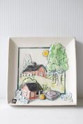 北欧ヴィンテージ/jie gantofta社/陶板の壁掛け/スウェーデンの田舎