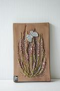 北欧ヴィンテージ/jie gantofta社/陶板の壁掛け/お花と蝶々