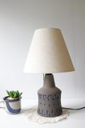 北欧照明/スウェーデン製/ヴィンテージテーブルランプ/幾何学模様/NILA Keramik
