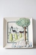 北欧ヴィンテージ/jie gantofta社/陶板の壁掛け/スウェーデンの田舎町