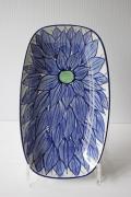 北欧ヴィンテージ/Royal Copenhagen/長皿/ブルーのお花