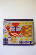 北欧織物/フレミッシュ織/つづれ織り/モダンな鳥さん