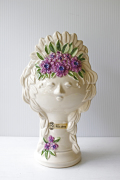 北欧ヴィンテージ/Rosa Ljung/陶器の花瓶/女の子とお花/SOLD OUT