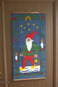 【クリスマス】北欧ヴィンテージ/ジュート素材の壁掛け/ニッセ