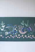 北欧ヴィンテージ/手刺繍/小鳥の仲良しファミリー/SOLD OUT