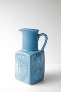 北欧ヴィンテージ/Rorstrand(ロールストランド)/Carl-Harry Stalhane/ターコイズ色の花瓶