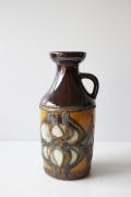 ドイツヴィンテージ/持ち手付き花瓶/ブラウン系カラー/SOLD OUT