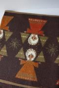 【クリスマス】北欧テーブルランナー/黄麻(ジュート)素材/天使とクリスマスツリー