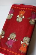 【クリスマス】北欧テーブルランナー/黄麻(ジュート)素材/天使と楽器