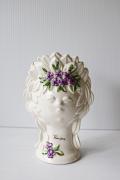 北欧ヴィンテージ/Rosa Ljung/陶器の花瓶/女の子とお花